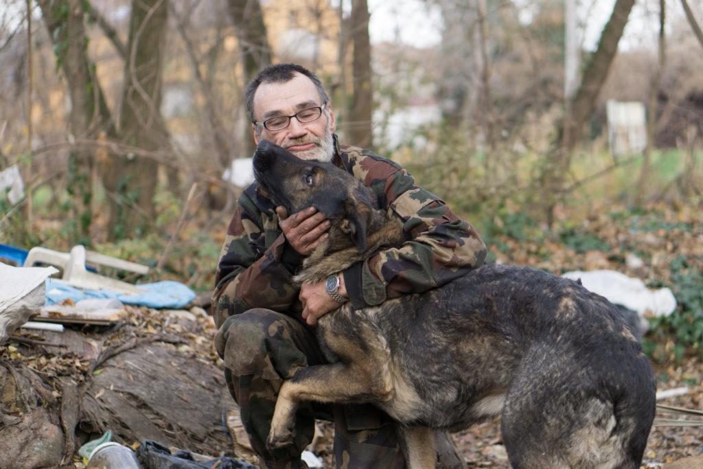 Homeless veteran and do