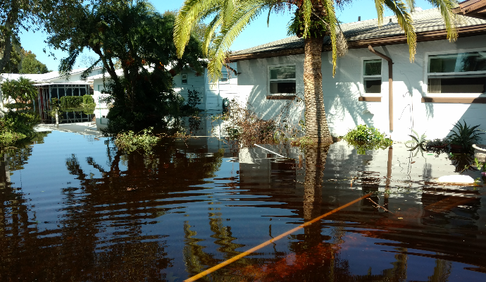 Disaster Case Management in Florida- a home has help with flood damage and mold after Hurricane Irma