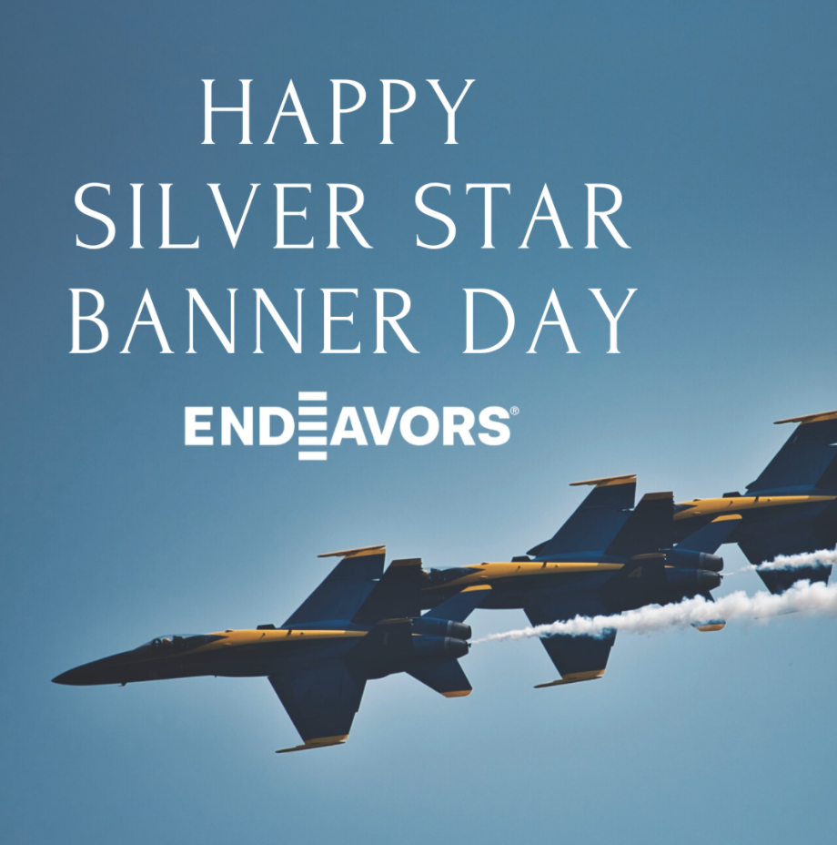 Silver Star Banner Day Graphic