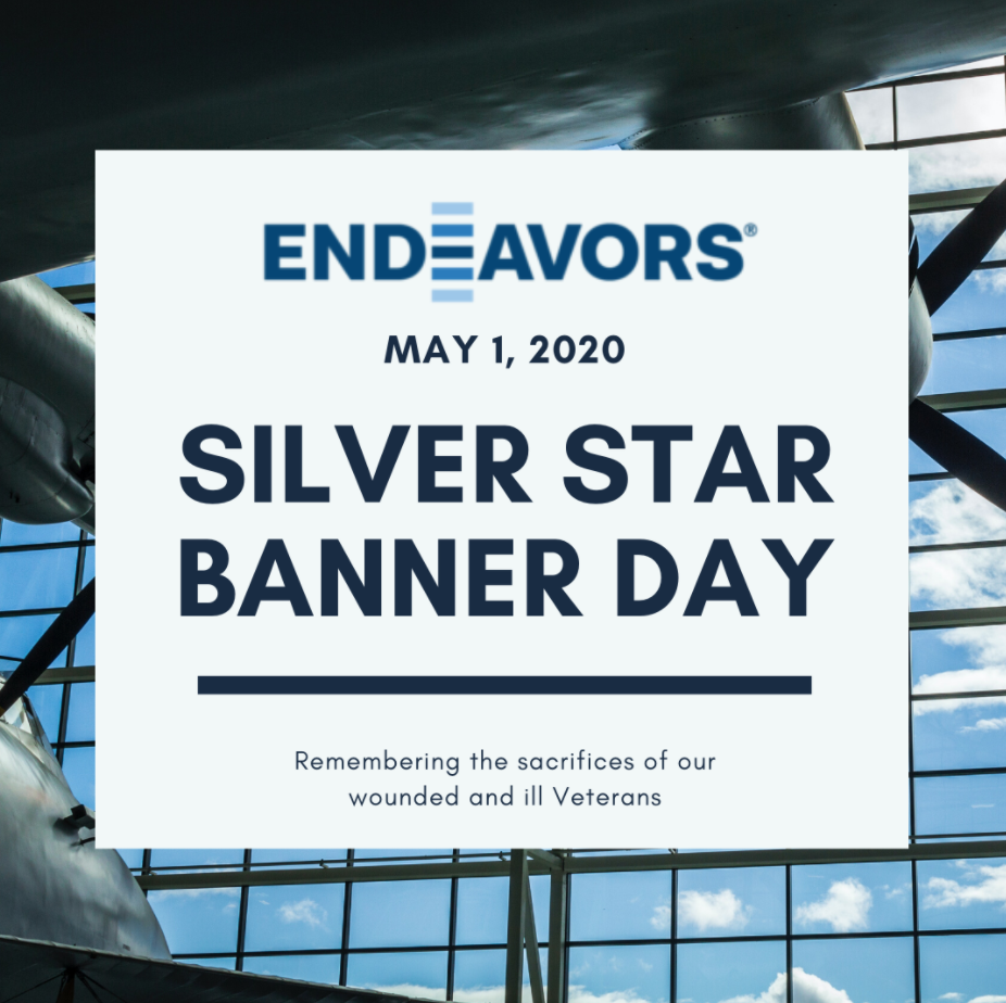 Silver Star Banner Day appreciation Graphic